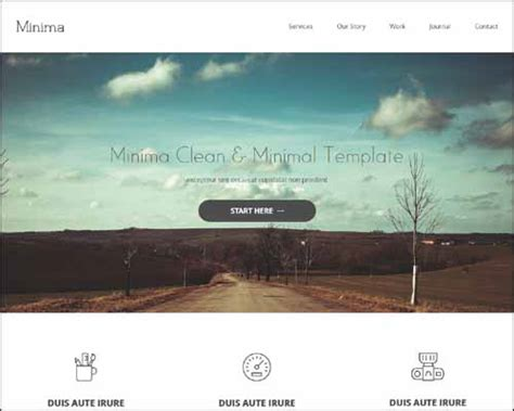 free minimal html template 20 best free responsive html5 css3 templates sanjay