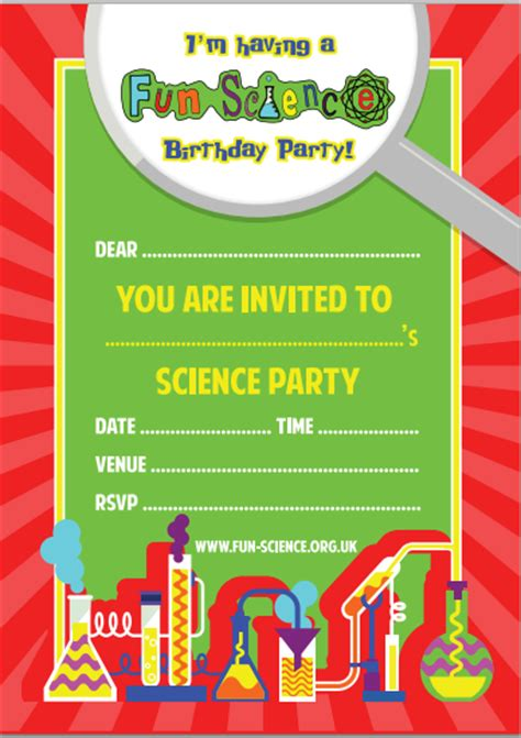 printable science party decorations free printable science party invitation