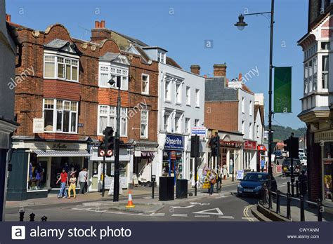 houses to buy in dorking high street dorking surrey england united kingdom stock photo royalty free image