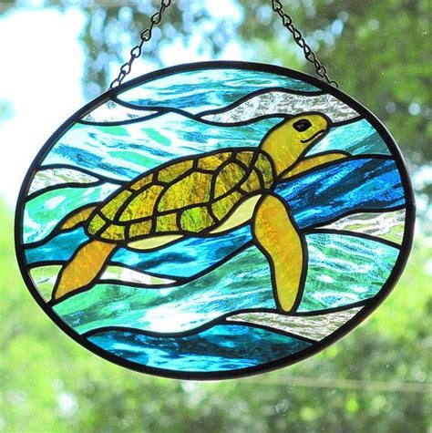 stained glass turtle l 65 best stained glass turtles images on pinterest