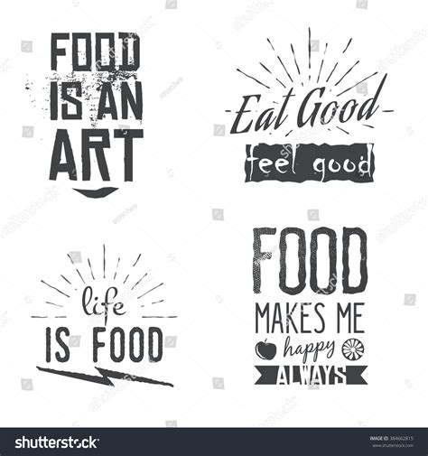 style related to food related quotes vintage retro style stock vector
