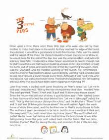 three stories story of the three little pigs worksheet education com