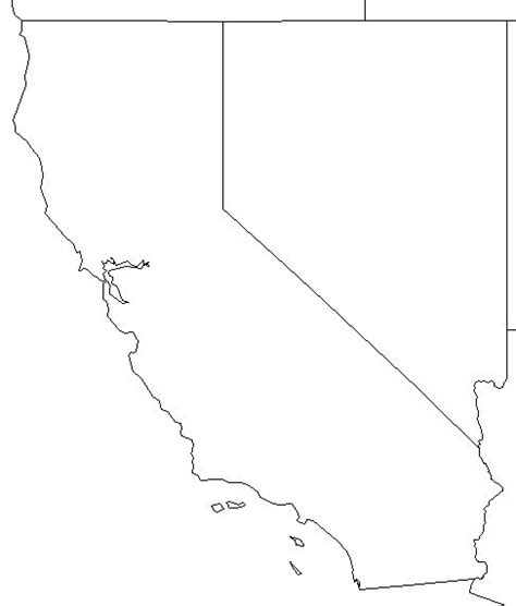 california map shape california maps