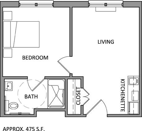 one bedroom efficiency apartment plans assisted living apartment floor plans louisiana