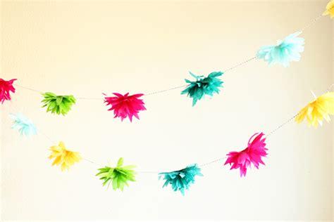 How To Make Tissue Paper Flower Garland - diy tutorial como hacer flores de papel crepe o china
