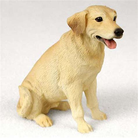 Golden Home Decor by Yellow Lab Hand Painted Collectible Dog Figurine