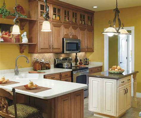 contrasting kitchen cabinets rooms