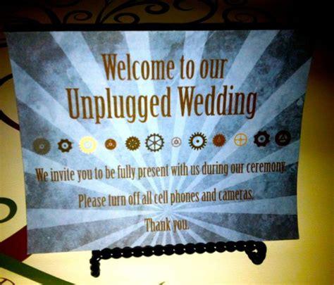 Unplugged Wedding Announcement by Unplug It