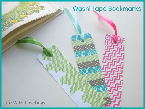 how to use washi tape washi tape bookmarks life with lovebugs