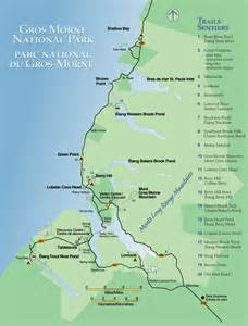 gros morne national park map rocky harbour canada mappery