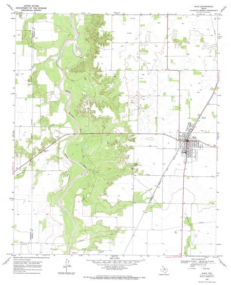 topo map of texas rule topographic map tx usgs topo 33099b8