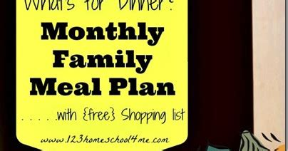 meal planning – october menu with weekly shopping list