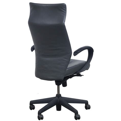 grey leather conference chairs keilhauer tom used leather high back executive chair gray