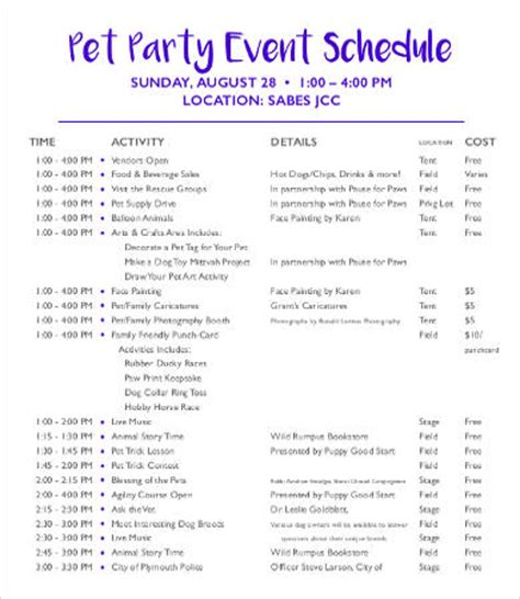 Party Schedule Template 12 Free Word Pdf Documents Download Free Premium Templates Event Itinerary Template