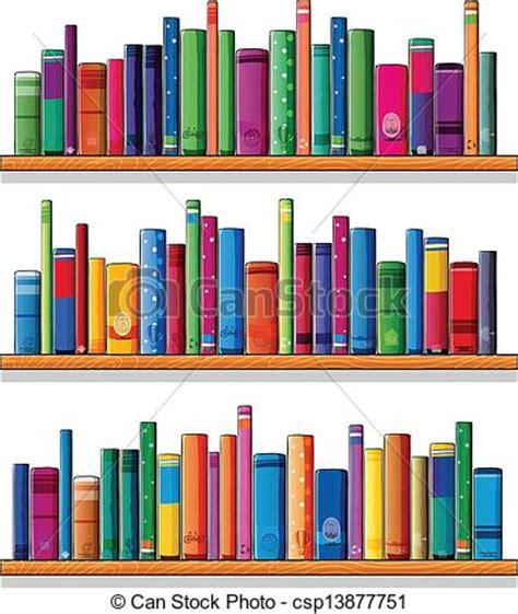clipart libri clipart vettoriali di legno libri mensole illustration