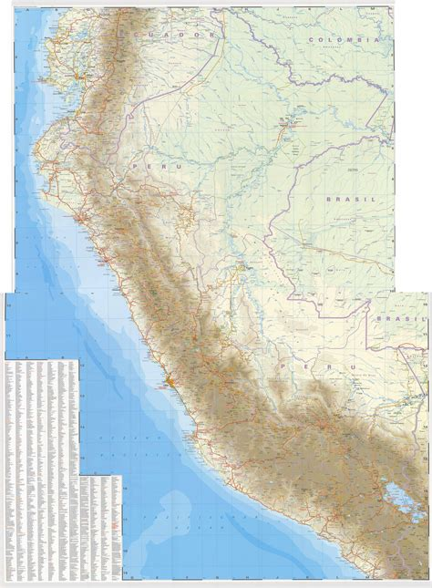 maps  peru map library maps   world