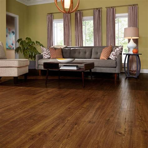 10 mm thick flooring pergo outlast auburn scraped oak 10 mm thick x 6 1 8 in