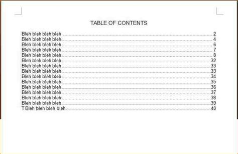 microsoft word table of contents template table of contents template image for table of contents powerpoint template free powerpoint
