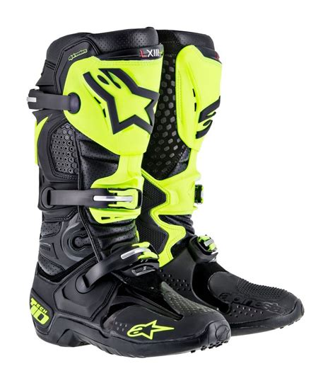 discount motorbike boots 599 95 alpinestars mens tech 10 rv2 mx offroad riding 204900