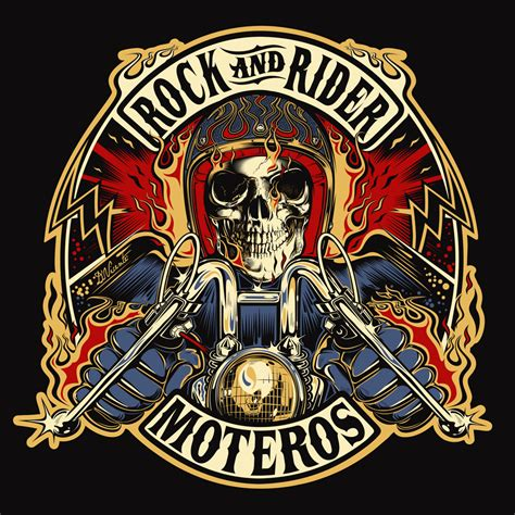 electric tattoo logo design commission rock and rider spain 2015 moto
