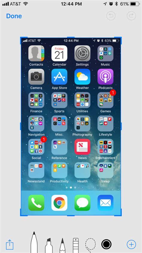 iphone screenshot how to take screenshots in ios 11 the iphone faq