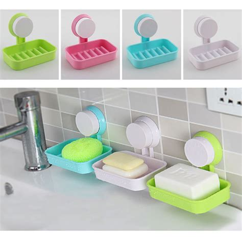 candy color toilet suction cup holder bathroom shower soap