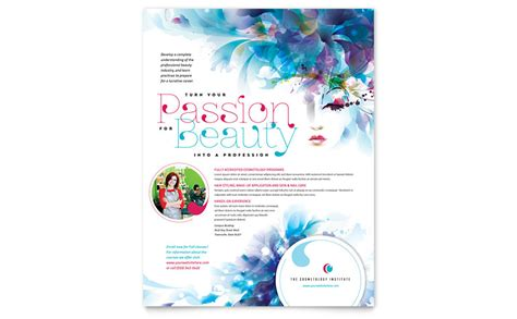Free Microsoft Publisher Flyer Templates by Cosmetology Flyer Template Word Publisher