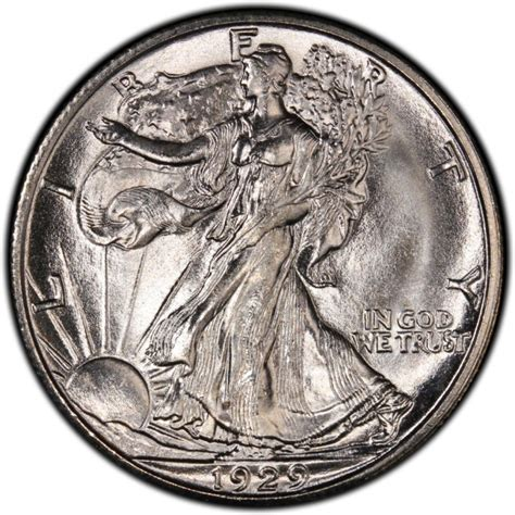 1929 walking liberty half dollar values and prices past sales coinvalues com