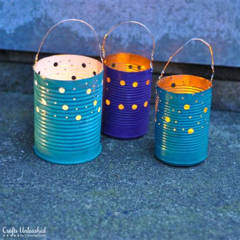 tin can crafts for tin can crafts make your own recycled luminaries