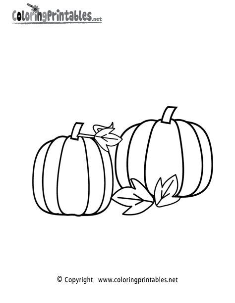 free printable autumn pumpkins coloring page