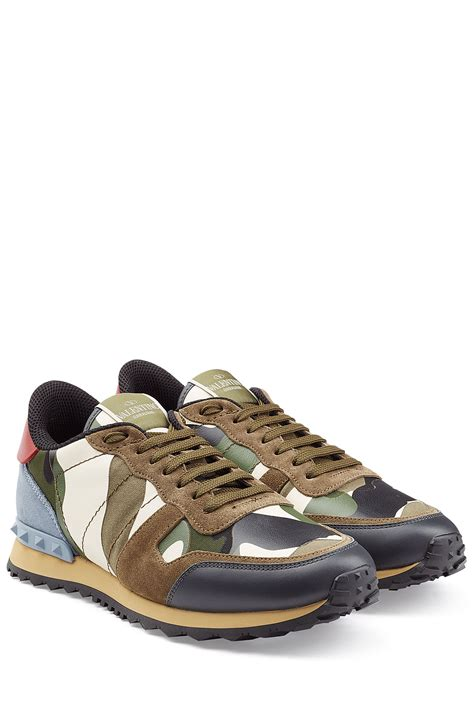lyst valentino leather rockstud sneakers multicolor