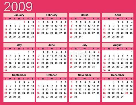 Kalender Dinding 1 2 Sisi Color 2 pink calendar for 2009 stock vector illustration of color 6333102
