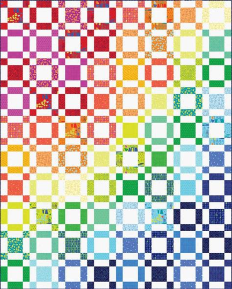 The Rainbow Quilt Pattern by Rainbow Taffy Quilt Pattern By Benartex