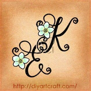 flower tattoo with initials initial tattoos with flowers via stephanie hartman