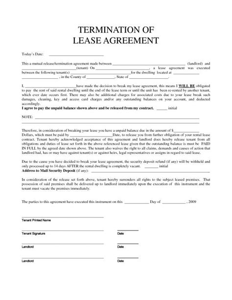 consent letter format for rental agreement termination of lease agreement beneficialholdings info