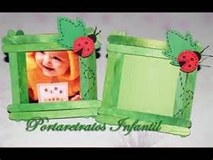 porta retratos echos con palitos de helados portarretratos infantil diy photo frame for childs