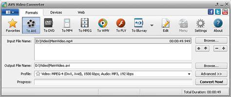 avi file audio format avs4you gt gt avs video converter gt gt working with avs video