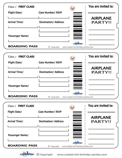 boarding pass template free printable airplane boarding pass invitations coolest