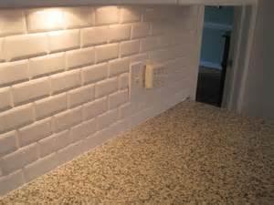 Subway Kitchen Backsplash Beveled Subway Tile New Kitchen Pinterest