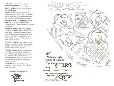 sands of kahana building layout map of grounds picture of sands of kahana lahaina