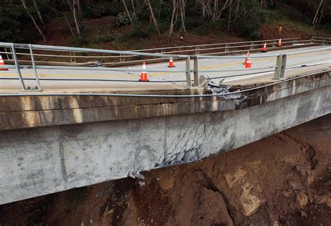 Big Sur Pch Closed - downed bridge splits big sur closes part of pacific coast highway komo