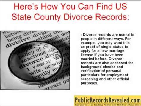 Free Divorce Record Search Us State County Divorce Records Find Them Free