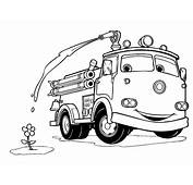 Gambar Mewarnai Mobil Pemadam  Rommy Car
