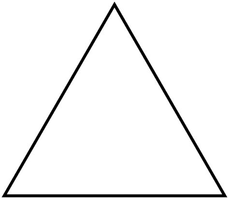 triangle template a corner rule of triangles