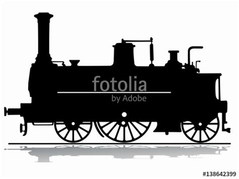 quot silhouette steam locomotive vector draw quot stock image and