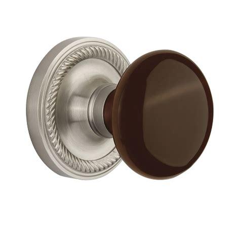 nostalgic warehouse brown porcelain knob privacy mortise