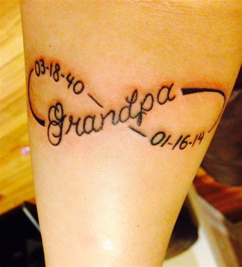 stylish grandpa memorial tattoo