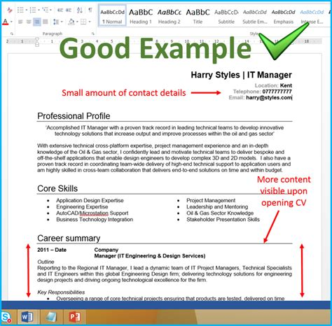 show a layout of a cv 7 cv format tips that will get you more interviews