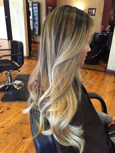 how to blend in hair roots high contrast balayage highlight blending dark roots into