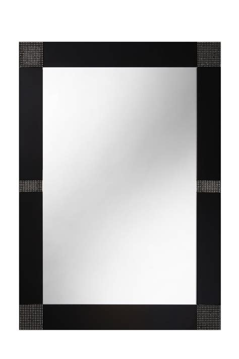opus 60cm x 80cm black sparkleycrystals bathroom mirror
